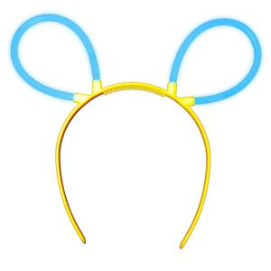 "1 Glow Sticks Bunny Ears Hair Pin BLUE, Test Score: 1,4 ""VERY GOOD"", Complete Set incl. Glow Sticks u. reusable Hair Pin"