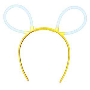 "1 Glow Sticks Bunny Ears Hair Pin COLD WHITE, Test Score: 1,4 ""VERY GOOD"", Complete Set incl. Glow Sticks u. reusable Hair Pin"