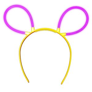"1 Glow Sticks Bunny Ears Hair Pin PURPLE (violett), Test Score: 1,4 ""VERY GOOD"", Complete Set incl. Glow Sticks u. reusable Hair Pin"