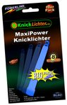 "10 MaxiPower Glow Sticks BLUE (150x15mm) Test Score: 1,4 ""VERY GOOD"", Complete Set incl. 10 Safety Cords & Special Double Hook, Factory-Fresh Premium Professional Quality Goods"