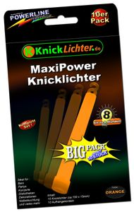 10 Maxi Power ORANGE (150x15mm) – Bild 1