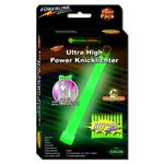 10 UltraHighPower Emergency Glow Sticks GREEN, up to 45min. Extremely Bright, incl. Accessories (150x15mm)