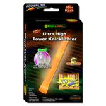 10 UltraHighPower Emergency Glow Sticks ORANGE, up to 45min. Extremely Bright, incl. Accessories (150x15mm)