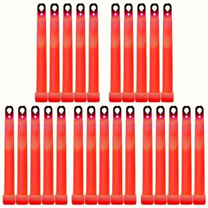 "25 MaxiPower Glow Sticks RED (150x15mm), Test Score: 1,4 ""VERY GOOD"", Complete Set incl. 25 Safety Cords and Special Double Hooks, Factory-Fresh Premium Professional Quality Goods"