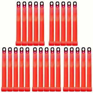 25 Maxi Power Knicklichter ROT (150x15mm) – Bild 1