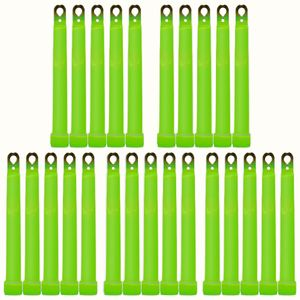 "25 MaxiPower Glow Sticks GREEN (150x15mm), Test Score: 1,4 ""VERY GOOD"", Complete Set incl. 25 Safety Cords and Special Double Hooks, Factory-Fresh Premium Professional Quality Goods"
