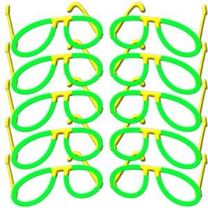 10 Piloten Brillen GRÜN Komplettset