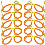 "10x Glow Stick Pilot Glasses ORANGE, Test Score: 1,4 ""VERY GOOD"", Complete Set, Factory-Fresh Premium Professional Quality Goods"