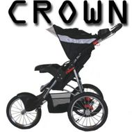 ST911 DELUXE  CROWN Single Kinderwagen BLACK JOGGER
