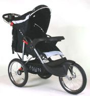 ST911 DELUXE  CROWN Single Kinderwagen BLACK JOGGER Bild 4
