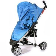 ST740 BLUE DELUXE- CROWN Single-Kinderwagen BUGGY