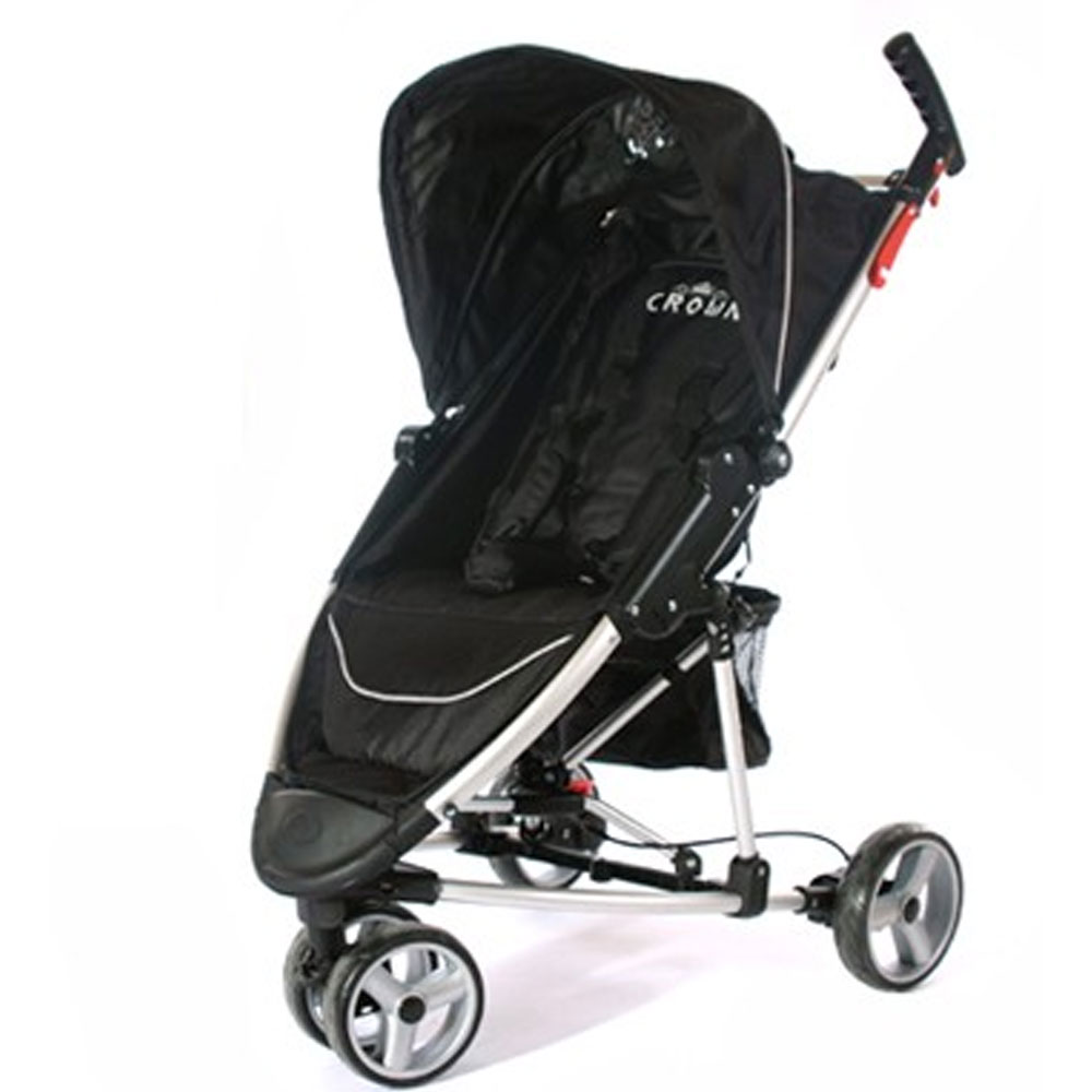 st740 black deluxe crown single kinderwagen buggy micro buggy. Black Bedroom Furniture Sets. Home Design Ideas
