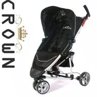 ST740 BLACK DELUXE-CROWN Single-Kinderwagen BUGGY