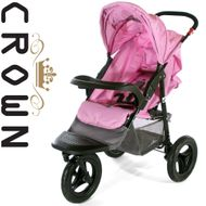 ST914 CROWN Single Kinderwagen JOGGER PINK
