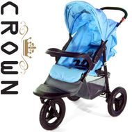ST914 CROWN Single Kinderwagen JOGGER BLAU