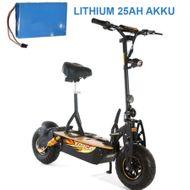 FORÇA Evoking III Elektro-Scooter mit 25AH Lithium-Akku 48 V 500 W Straßenzulassung EEC 20km/h Topspeed in Schwarz