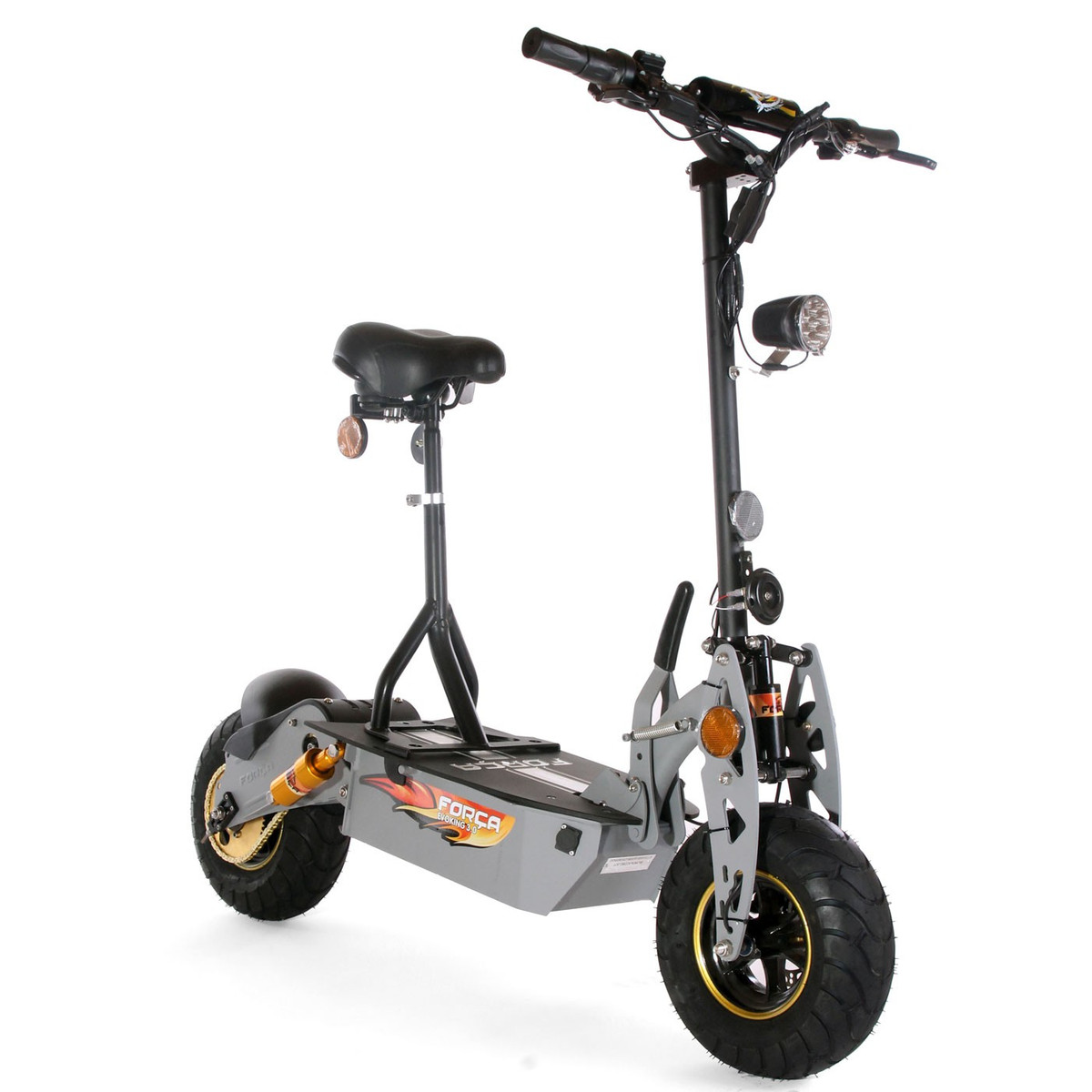 FORCA EVOKING-1600 ElektroScooter E-Scooter XL-Reifen BLACK
