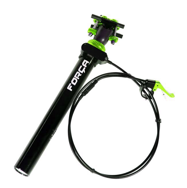 SPS400 31.6 mm GREEN Seatpost Adjustable Seat Post with REMOTE Lever Vario