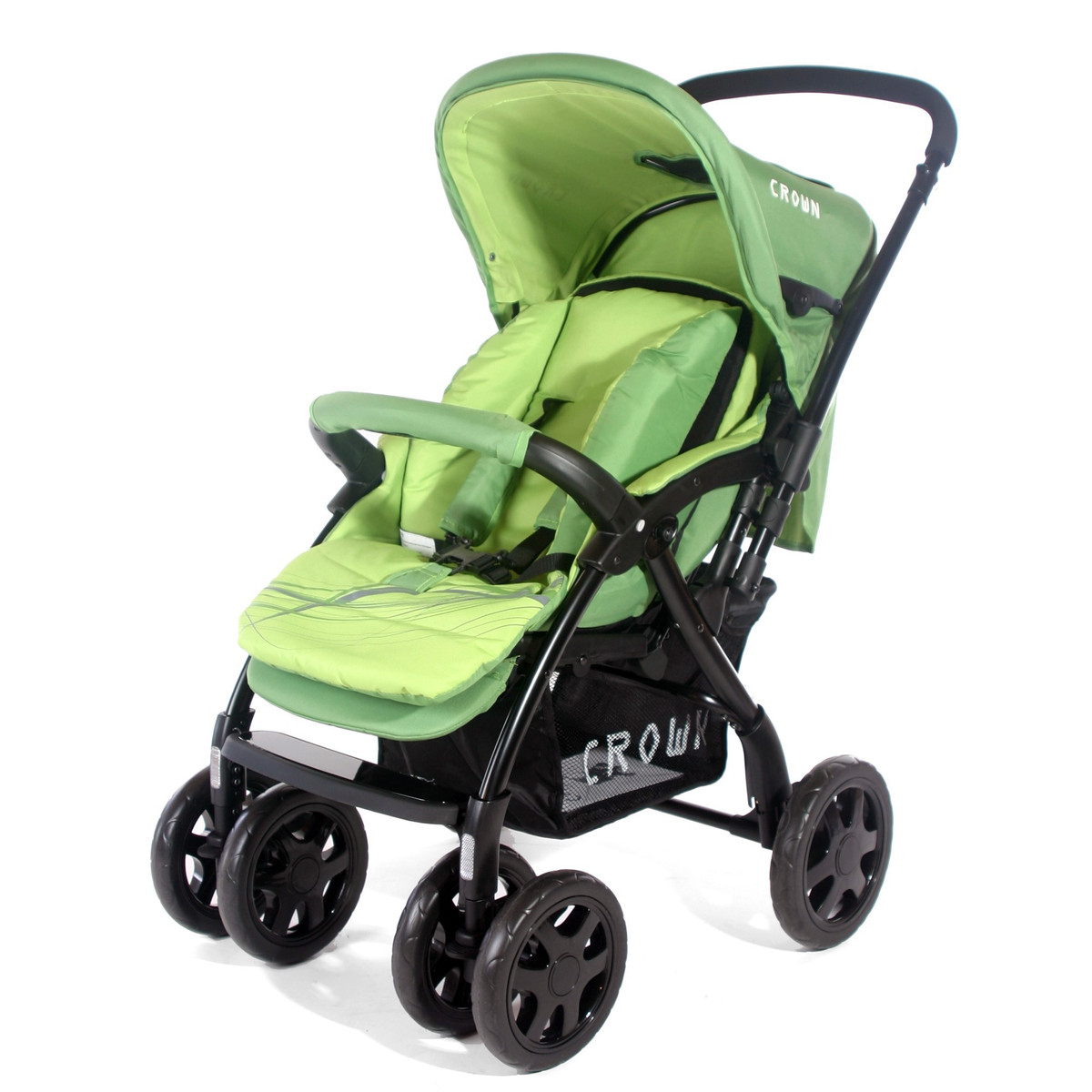 B-WARE ST528 - CROWN Kinderwagen Buggy Sport 4-Rad - DUAL WAY Farbe: GREEN