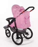 "CROWN ""ST915"" Single-Kinderwagen/Jogger Pink Bild 3"