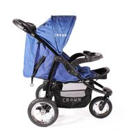 "CROWN ""ST916"" Single-Kinderwagen Jogger Blau Bild 4"