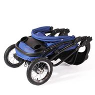 "CROWN ""ST916"" Single-Kinderwagen Jogger Blau Bild 3"