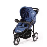"CROWN ""ST916"" Single-Kinderwagen Jogger Blau"