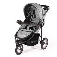 "CROWN ""ST916"" Single-Kinderwagen Jogger Grau"