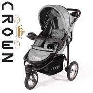 "CROWN ""ST916"" Single-Kinderwagen Jogger Grau Bild 2"