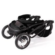 "CROWN ""ST916"" Single-Kinderwagen Jogger Schwarz Bild 3"