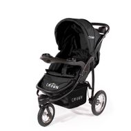 "CROWN ""ST916"" Single-Kinderwagen Jogger Schwarz"