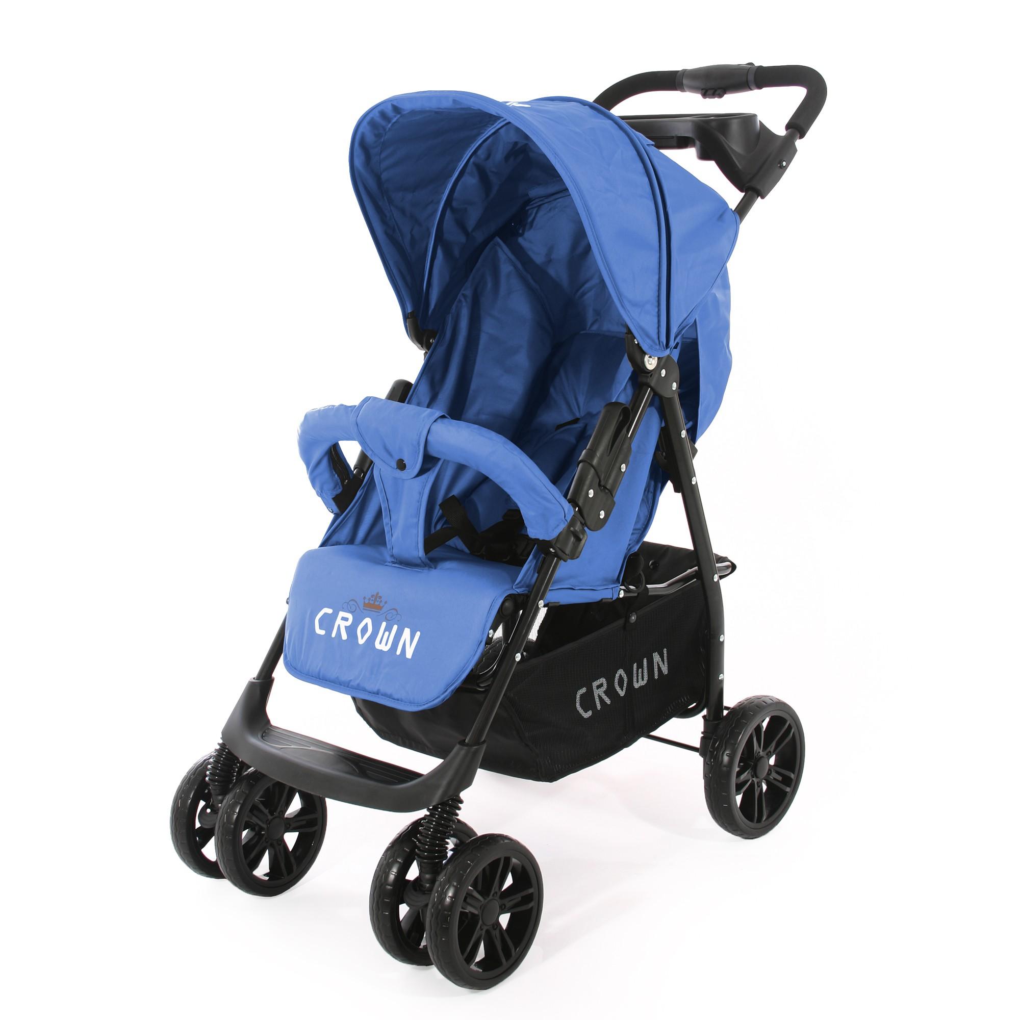 CROWN ST570 Kinderwagen - Sport Buggy Blau Kinderwagen Buggy