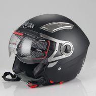 "Helm/Jethelm ""Dual Visier"" SZ-OP01 Schwarz Gr. M"