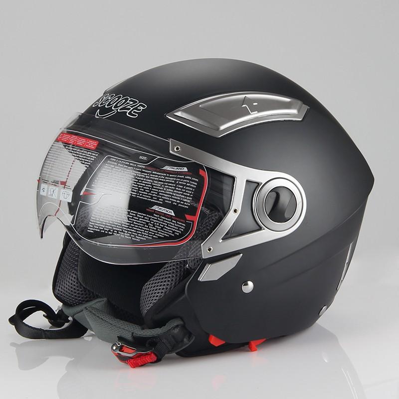 "Helm/Jethelm ""Dual Visier"" SZ-OP01 Schwarz Gr. L"