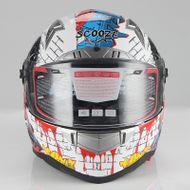 """SCOOZE Helm/Integralhelm """"Dual Visier"""" SZ-FF001 Bunt Gr. L"""