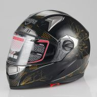 "SCOOZE Helm/Integralhelm ""Dual Visier"" SZ-FF001 Schwarz Gr. M"