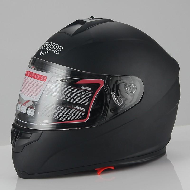 """SCOOZE Helm/Integralhelm """"Dual Visier"""" SZ-FF007 Matt-Schwarz Gr. L"""