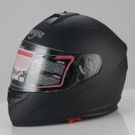"""SCOOZE Helm/Integralhelm """"Dual Visier"""" SZ-FF007 Matt-Schwarz Gr. M"""