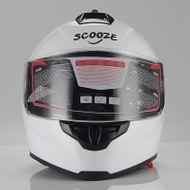 "SCOOZE Helm/Integralhelm ""Dual Visier"" SZ-FF007 Glanz-Weiß Gr. M Bild 2"