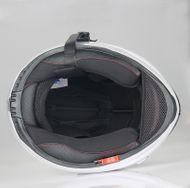 "Helm/Integralhelm ""Dual Visier"" SZ-FF007 Glanz-Weiß Gr. L Bild 4"