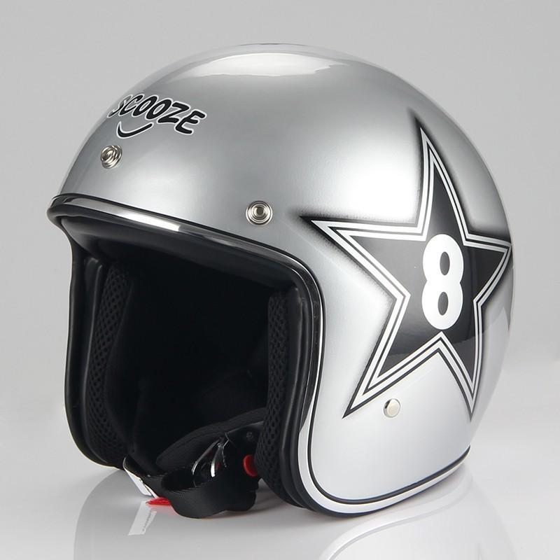 SCOOZE Helm/Demi-Jethelm SZ-B205 Silber Gr. L