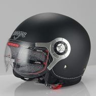 "SCOOZE Helm/Demi-Jethelm ""Visier"" SZ-B256 Matt-Schwarz Gr. M"