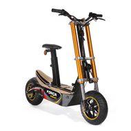 FORÇA Bossman-S Elektro-Scooter mit 25AH Lithium-Akku 48 V 1500 W Straßenzulassung EEC 45km/h Topspeed in Schwarz-Gold