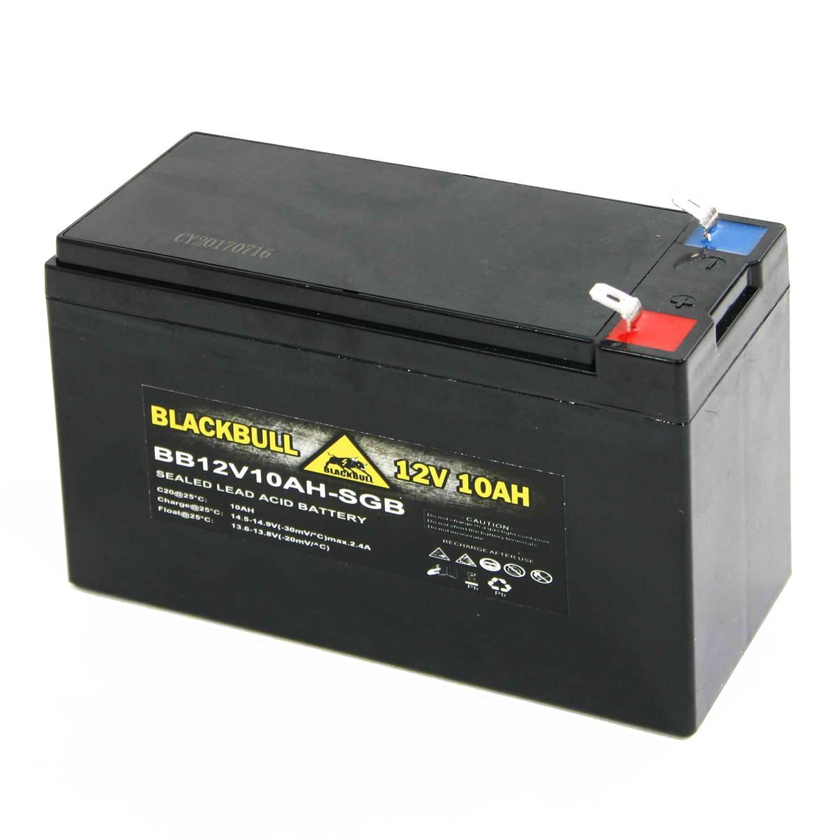 Blackbull pro 12V 10AH Akku Zyklenfest XXL Faston Steckanschluss-SGB