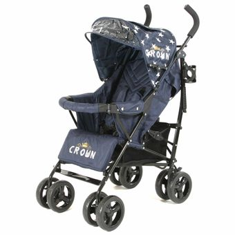 "CROWN ""ST520"" Buggy Kinderwagen blue star"