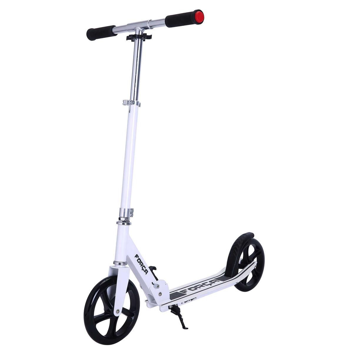 FORÇA Flake 12 Big Wheel City Scooter für Erwachsene und Kinder in Weiß