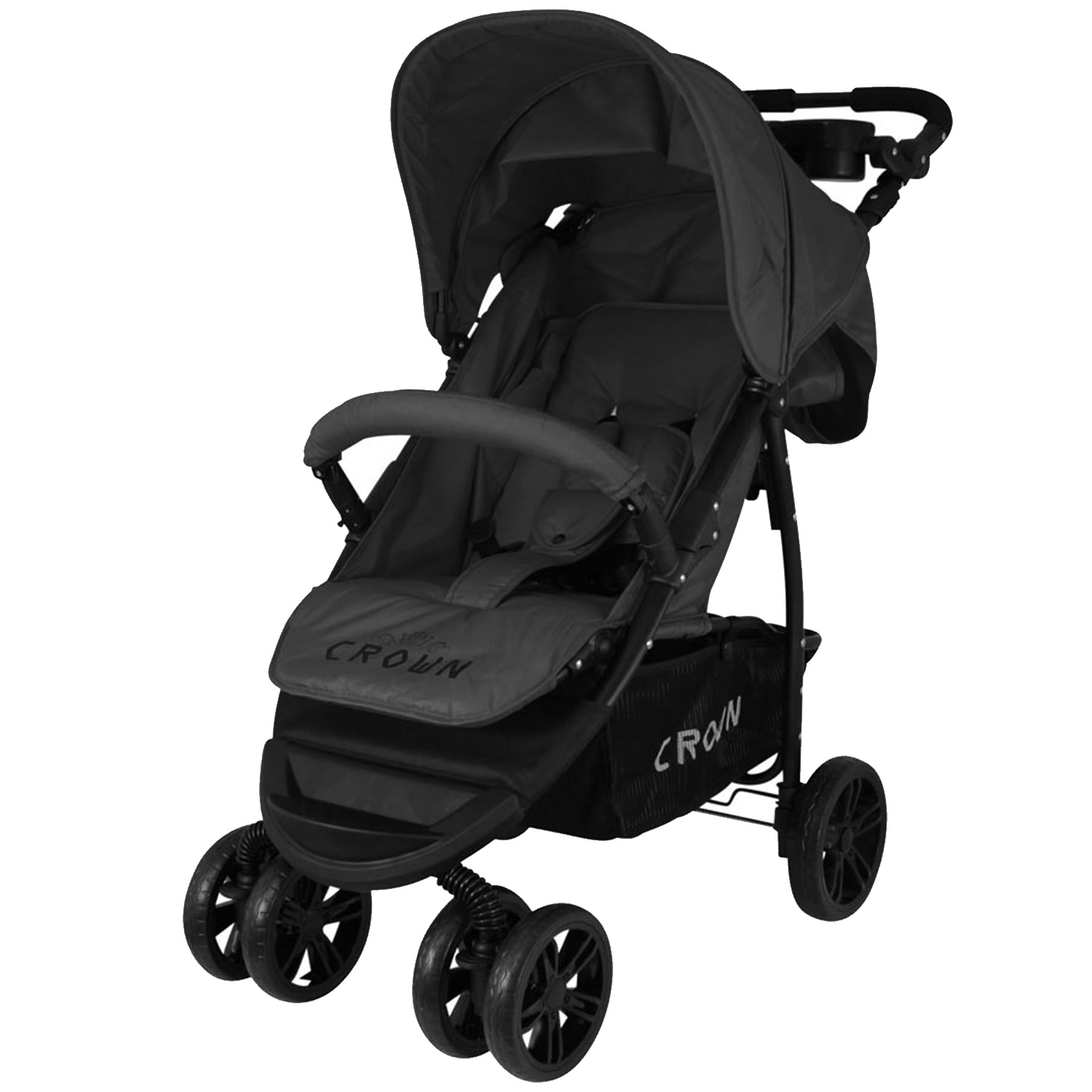 crown st560 kinderwagen buggy sport jogger in schwarz. Black Bedroom Furniture Sets. Home Design Ideas