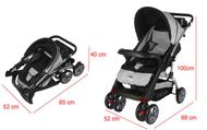 CROWN ST530 Buggy Kinderwagen DUAL-WAY Grau Bild 6