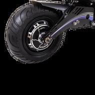 FORÇA Bossman-S VGT Pro E-Scooter Back'n'Blue Edition mit 60V 2000 Watt Naben-Motor 10AH Bleigel-Akku und 45 km/h Topspeed in Sonderlack Schwarz-Blau