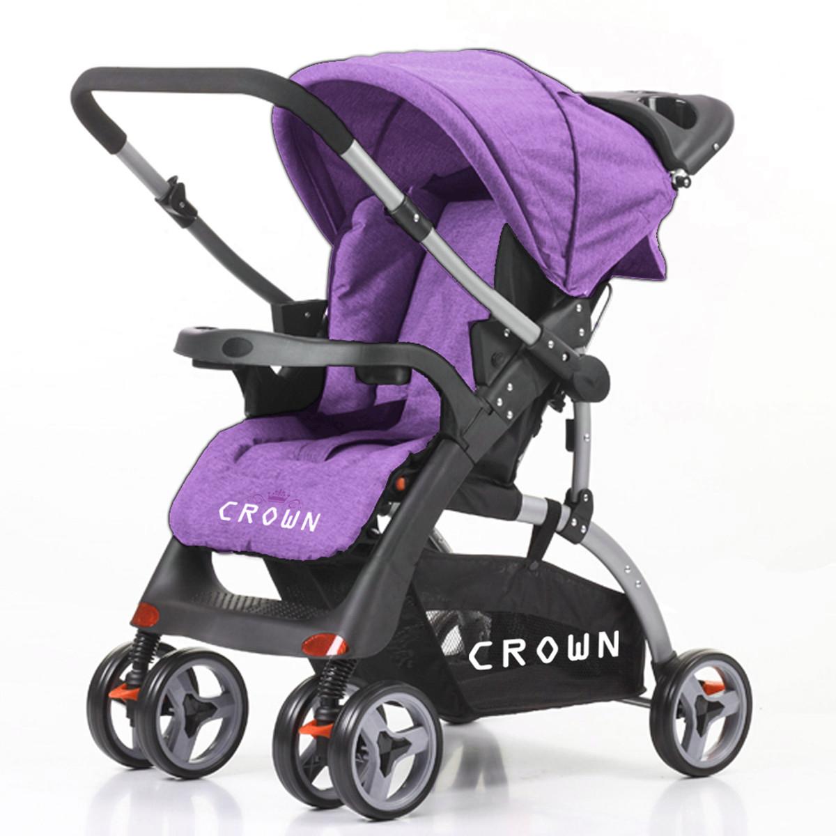 CROWN ST530 Buggy Kinderwagen DUAL-WAY Purple